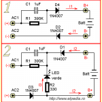 Incarcator lanterna - scheme echivalente