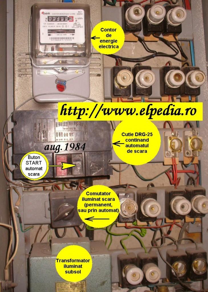 Automat de scara cu stingere gradata a luminii -  solutie de montaj in tablou scara